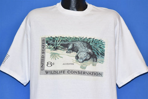 90s United States Alligator Postage Stamp t-shirt Extra Large