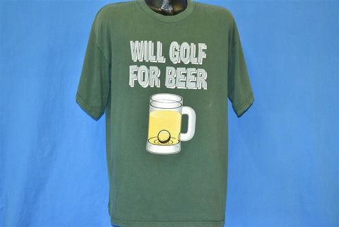 90s Will Golf For Beer Hole in One Funny t-shirt Extra Large
