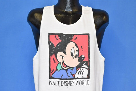 90s Mickey Mouse Disney Racerback Tank Top t-shirt Large