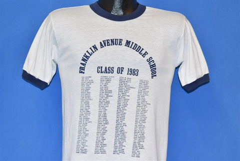 80s Franklin Avenue Middle School Class of 1983 t-shirt Small