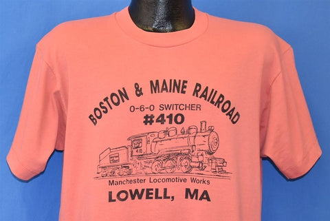 90s Boston & Maine Railroad 0-6-0 Switcher t-shirt Large