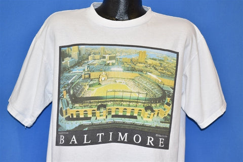 90s Baltimore Aerial Views Camden Yards MLB t-shirt Extra Large