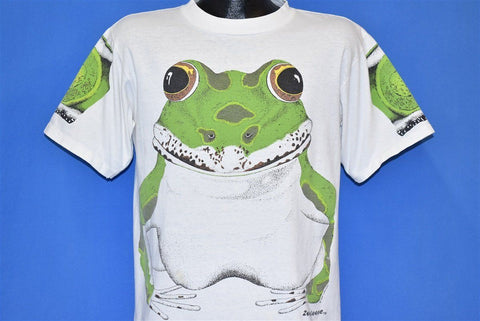 80s Leopard Frog Zooslooze Double-Sided t-shirt Large