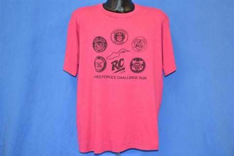 90s Armed Forces Challenge Run Pink t-shirt Extra Large