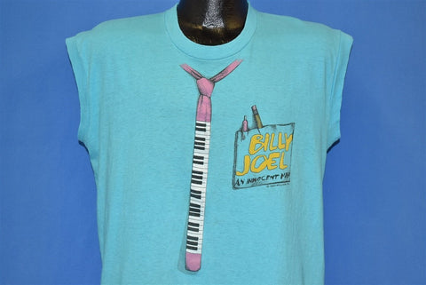 80s Billy Joel An Innocent Man Piano Necktie Tour t-shirt Large