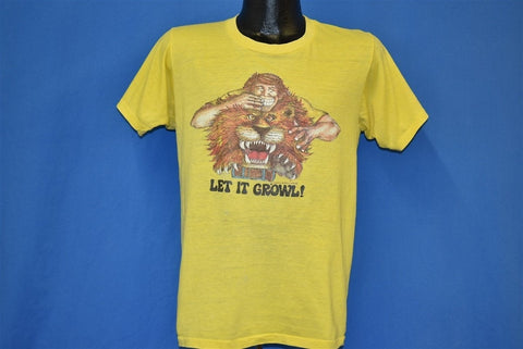 70s Let It Growl World Vision Hunger Fasting t-shirt Medium