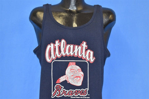 80s Atlanta Braves Logo MLB Baseball Tank t-shirt Medium