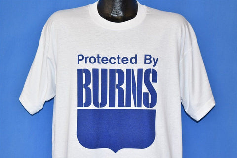 90s Protected by Burns Security Shield Logo t-shirt Extra Large
