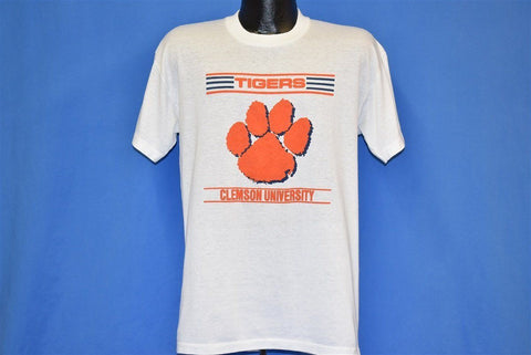90s Clemson University Tigers Paw Print College t-shirt Large