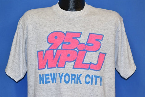90s WPLJ 95.5 Radio Station New York City Gray t-shirt Large