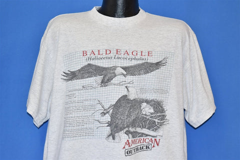 90s Bald Eagle Facts American Outback t-shirt Extra Large