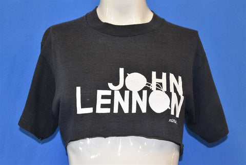 70s John Lennon Foothill Beatles Black Half t-shirt Medium