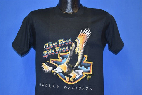 80s Live Free Ride Harley Davidson Eagle t-shirt Small