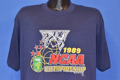 80s NCAA Championship '89 College Basketball t-shirt Extra Large