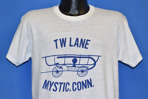 70s TW Lane Mystic Connecticut Fire Engine t-shirt Large