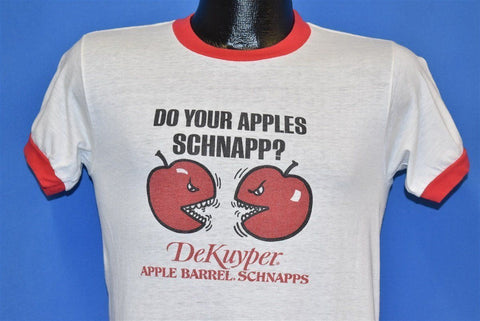 80s Do Your Apples Schnapp Dekuyper Funny Ringer t-shirt Small