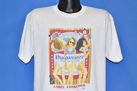 90s Budweiser Label Conscious Beach Towel Beer t-shirt Large