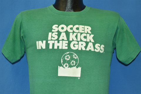 70s Soccer is a Kick in the Grass #1 Jock Green t-shirt Small