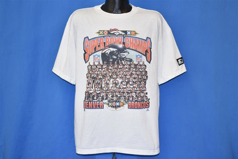90s Denver Broncos Super Bowl XXXII Champs NFL t-shirt Large