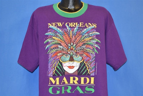 90s Mardi Gras New Orleans Louisiana Jester t-shirt Extra Large