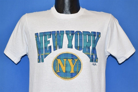 90s New York NY Plaid Love Unlimited Tourist t-shirt Small