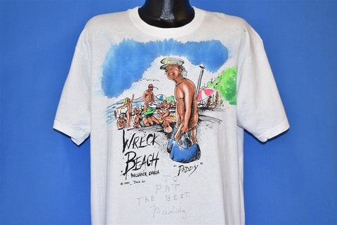 90s Wreck Beach Vancouver Nudist Funny t-shirt Extra Large