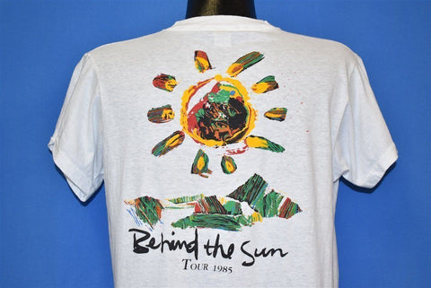 80s Eric Clapton and His Band Behind the Sun '85 t-shirt Large