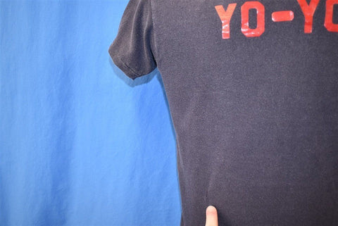 70s FOTM Yo-Yo Faded Black Cotton Double-Sided t-shirt Small