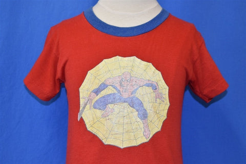 80s Spider Man Marvel Comics Superhero Red t-shirt Youth Small