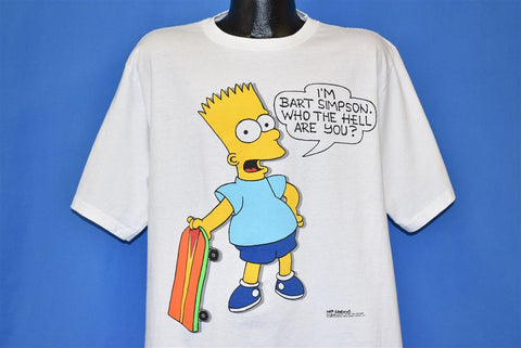 80s I'm Bart Simpson Who the Hell Are You t-shirt Extra Large