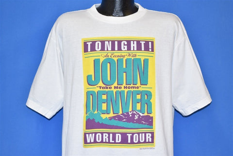 90s John Denver World Tour Take Me Home t-shirt Extra Large