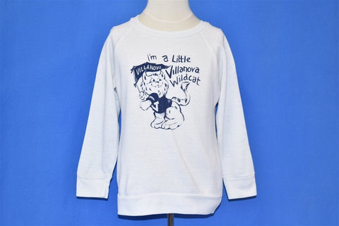 80s I'm a Little Villanova Wildcat Kids Sweatshirt Youth Small