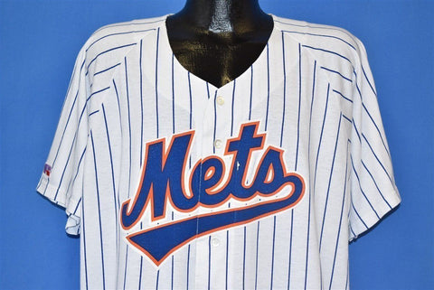 90s New York Mets Pinstripe Athletic Jersey t-shirt Extra Large