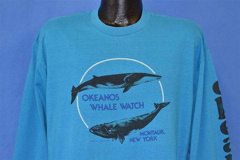 80s Okeanos Whale Watch Montauk New York t-shirt Extra Large