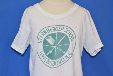 60s Sternberger School Greensboro White t-shirt Youth Medium