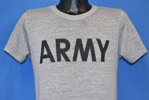 80s Army Champion Heathered Gray USA t-shirt Small