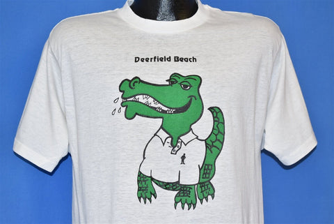 80s Preppy Gator Deerfield Beach Florida t-shirt Medium