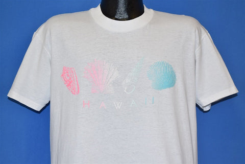 80s Hawaii Seashells Conch Clam Shell Tourist t-shirt Large