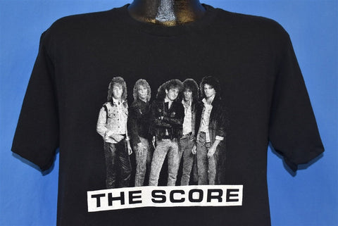 80s The Score Rock Band Good Bad Ugly t-shirt Large