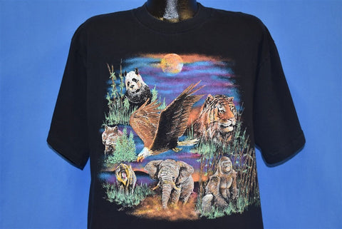 90s Wild Animals Sunset Eagle t-shirt Large