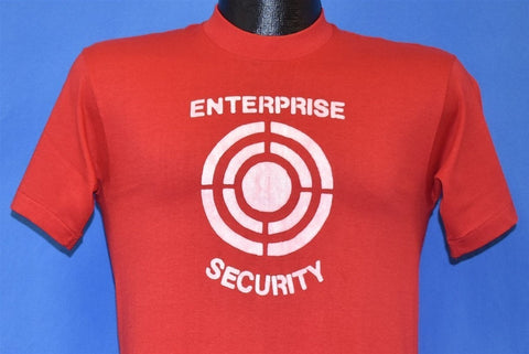80s Star Trek Enterprise Security Red Target Funny t-shirt Small