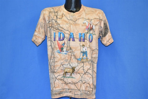 90s Idaho State Map All Over Print Tourist t-shirt Medium