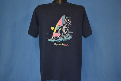 80s Daytona Beach Florida T-Rex Wind Surfing t-shirt Large
