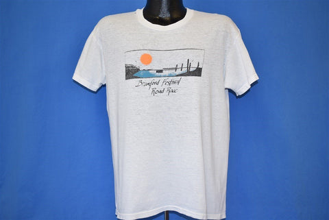 80s Branford Connecticut Festival Road Race Sunset t-shirt Large