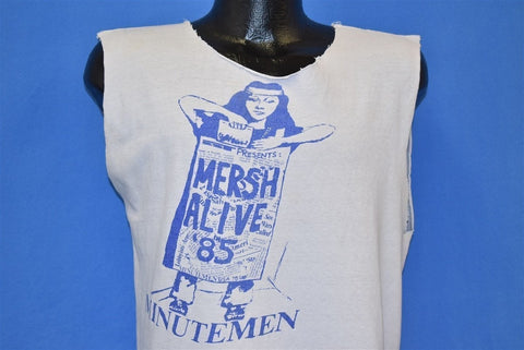 80s Minutemen Project Mersh Alive 85 Tour Punk t-shirt Medium