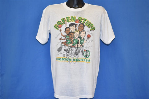 80s Boston Celtics Green Stuff Caricatures NBA t-shirt Large
