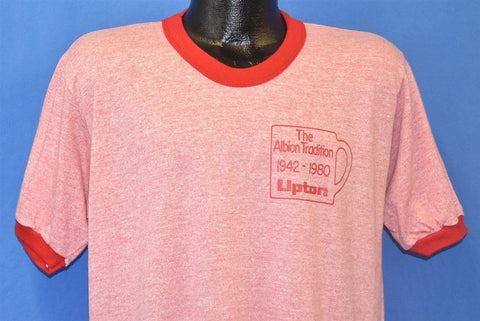 80s Lipton Tea Albion New York Tri Blend Ringer t-shirt Large