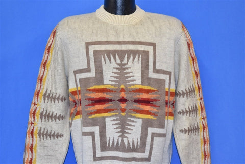 70s Pendleton Harding High Grade Western Wear Wool Sweater Large