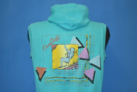 80s OP Ocean Pacific Surf Surfing Hooded t-shirt Medium