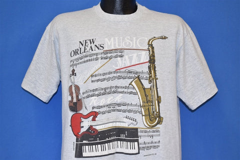 80s New Orleans Jazz Rock Music Sax Guitar t-shirt Large